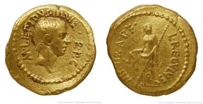 Read more about the article 1579AE – Aureus Lépide – Lucius Livineius Regulus