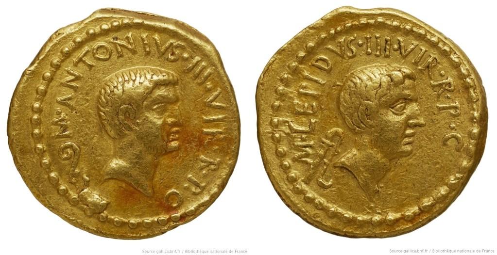 1577AN – Aureus Marc Antoine et Lepide – Marcus Antonius