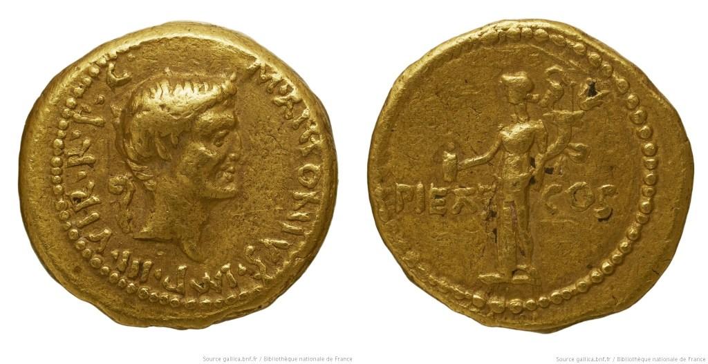 1683AN – Aureus Marc Antoine – Marcus Antonius