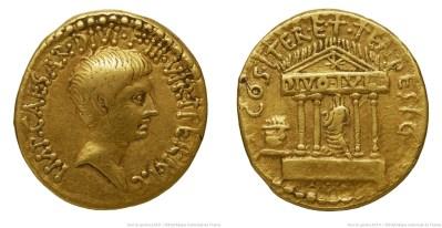 1744JU – Aureus Octave – Caius Julius Cæsar Octavianus