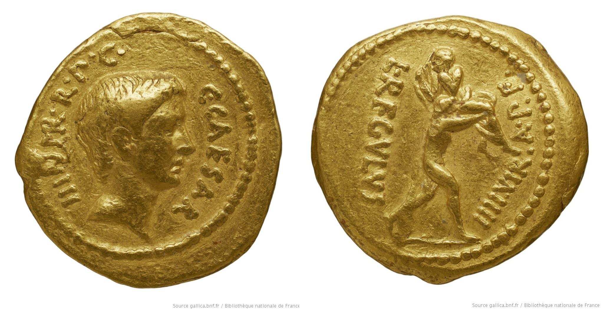 You are currently viewing 1581JU – Aureus Octave – Lucius Livineius Regulus