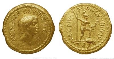 1587JU – Aureus Octave – Lucius Mussidius Longus