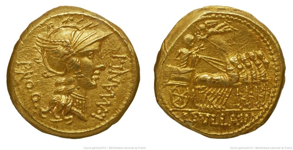 1294MA – Aureus Manlia – Lucius Manlius Torquatus