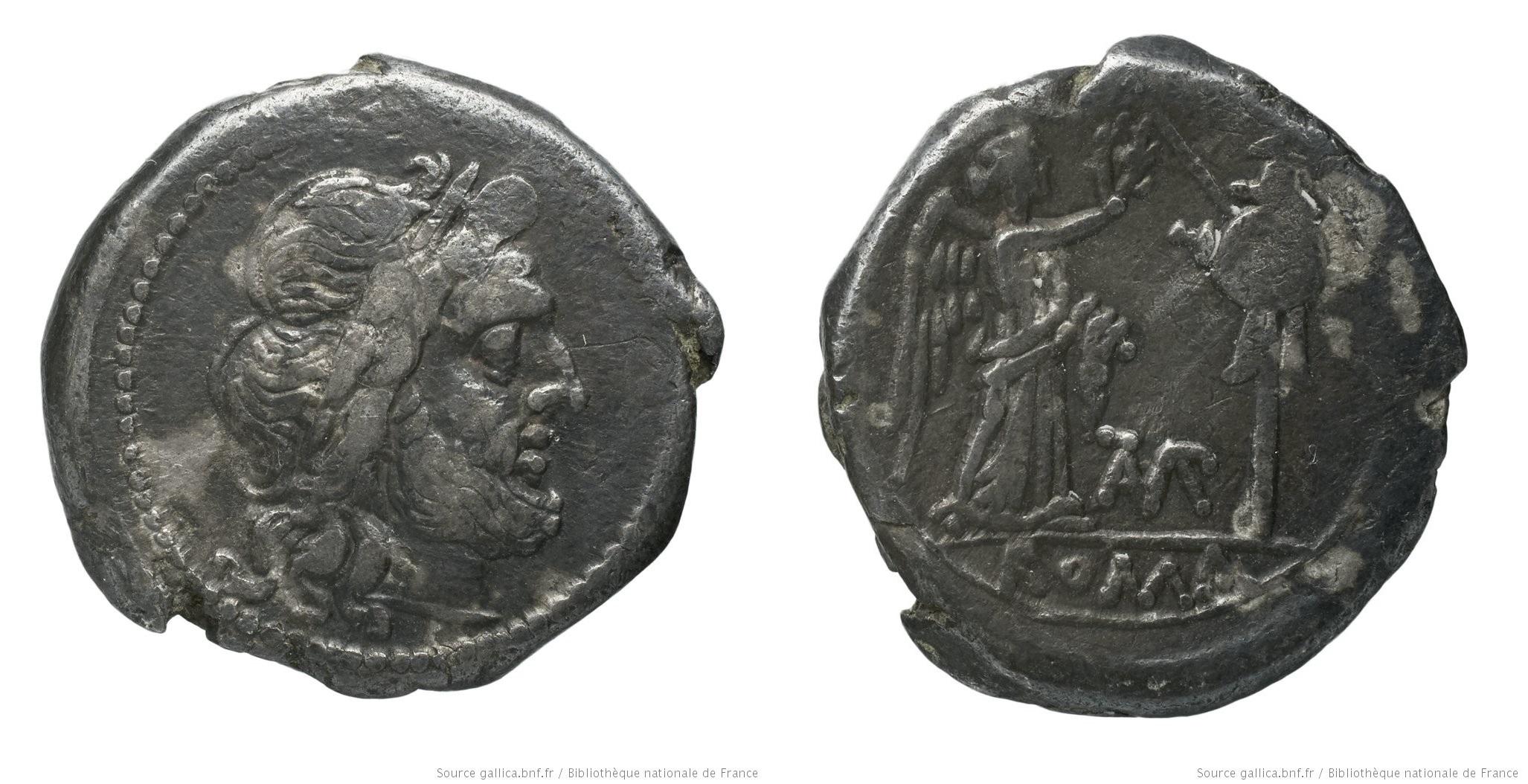 537BA – Victoriat Baebia – Cnaeus Baebius Tampilus