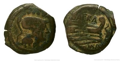 843AF – Triens Afrania – Spurius Afranius