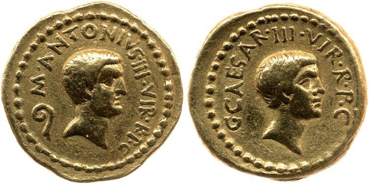 1576JU – Aureus Octave et Marc Antoine