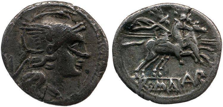 253AU – Quinaire Aurunculeia – C. Aurunculeius
