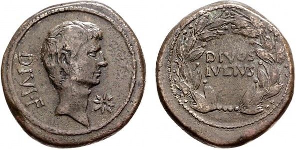 1734JU – Bronze Octave – Caius Julius Cæsar Octavianus