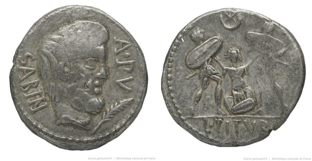 1235TI – Denier Tituria – Lucius Titurius Sabinus