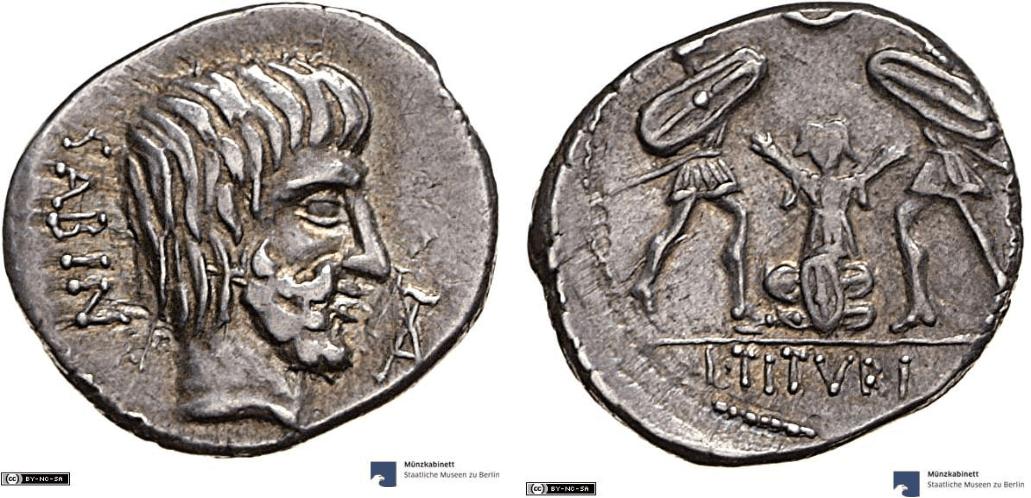 1234TI – Denier Tituria – Lucius Titurius Sabinus