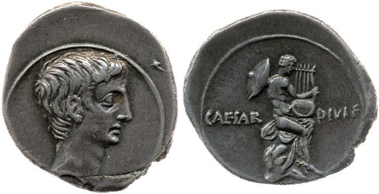 2010AU – Denier Octave – Caius Julius Cæsar Octavianus