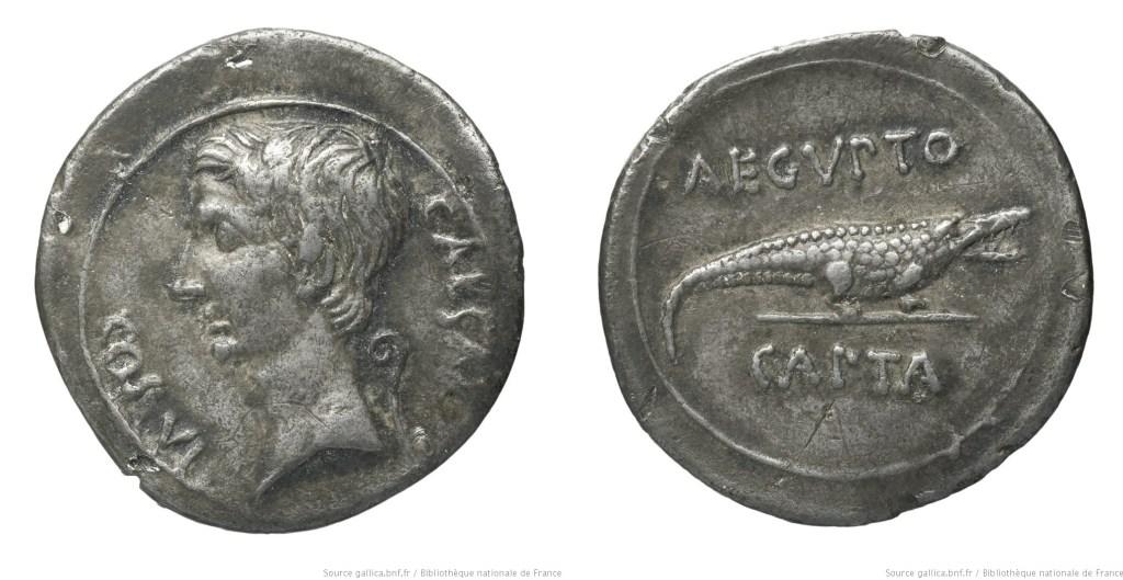 2032AU – Denier Octave – Caius Julius Cæsar Octavianus