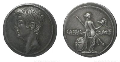 2001AU – Denier Octave – Caius Julius Cæsar Octavianus