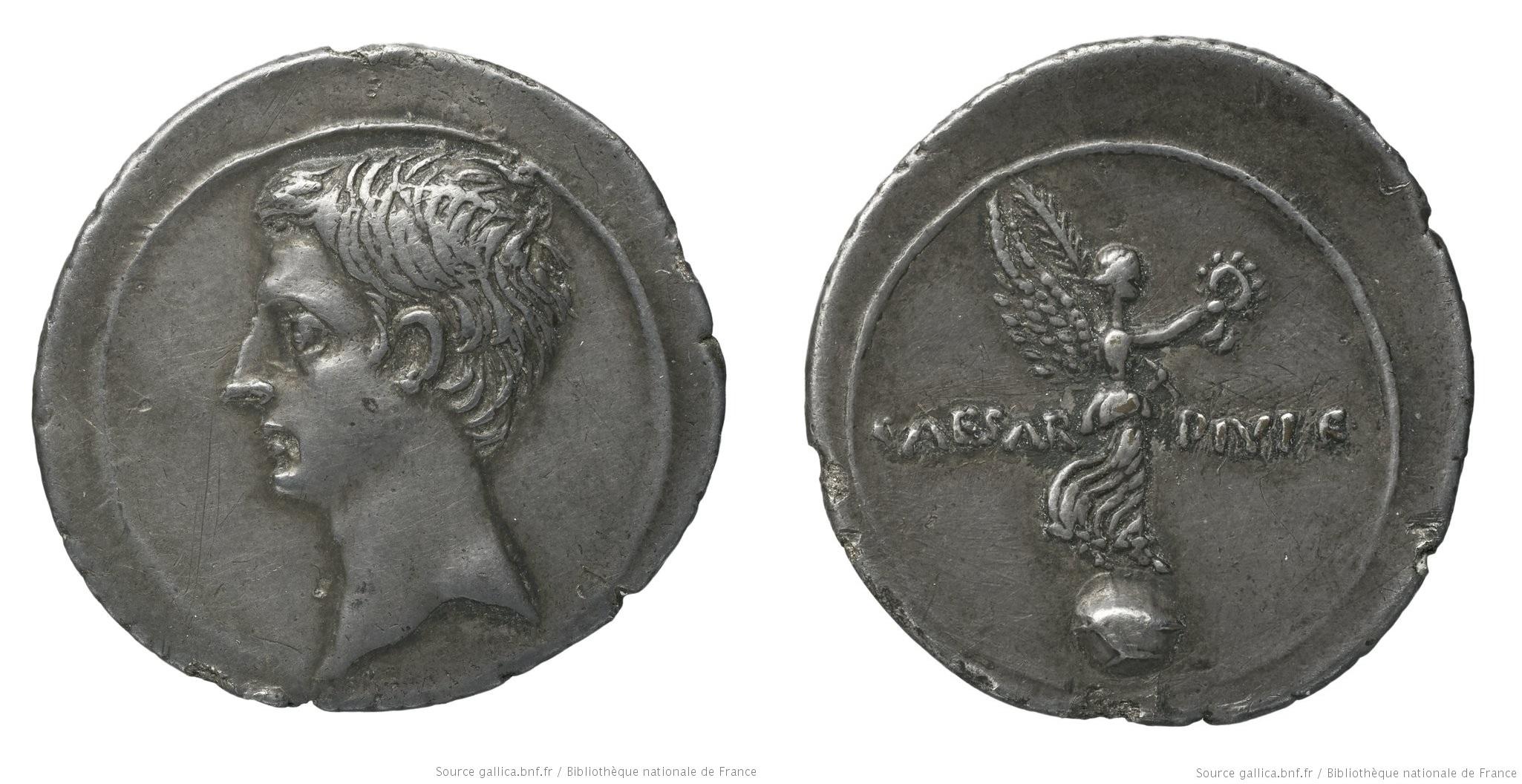 2008AU – Denier Octave – Caius Julius Cæsar Octavianus