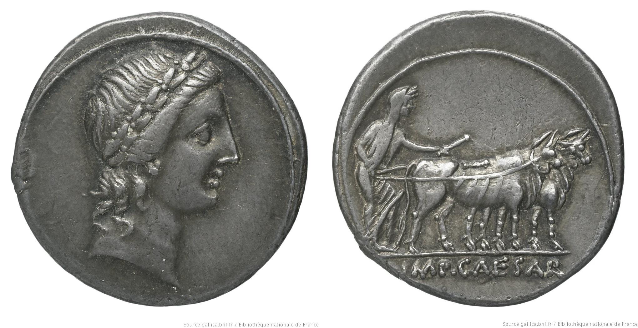 2027AU – Denier Octave – Caius Julius Cæsar Octavianus
