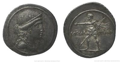 2002AU – Denier Octave – Caius Julius Cæsar Octavianus