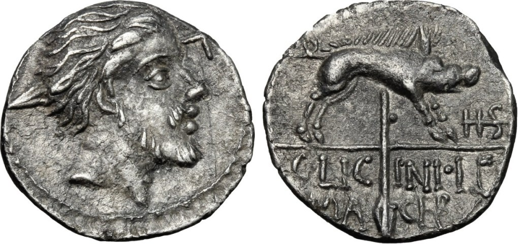1808LI – Sesterce Licinia – Caius Licinius Macer