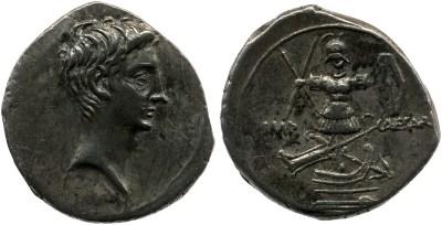 2018AU – Denier Octave – Caius Julius Cæsar Octavianus