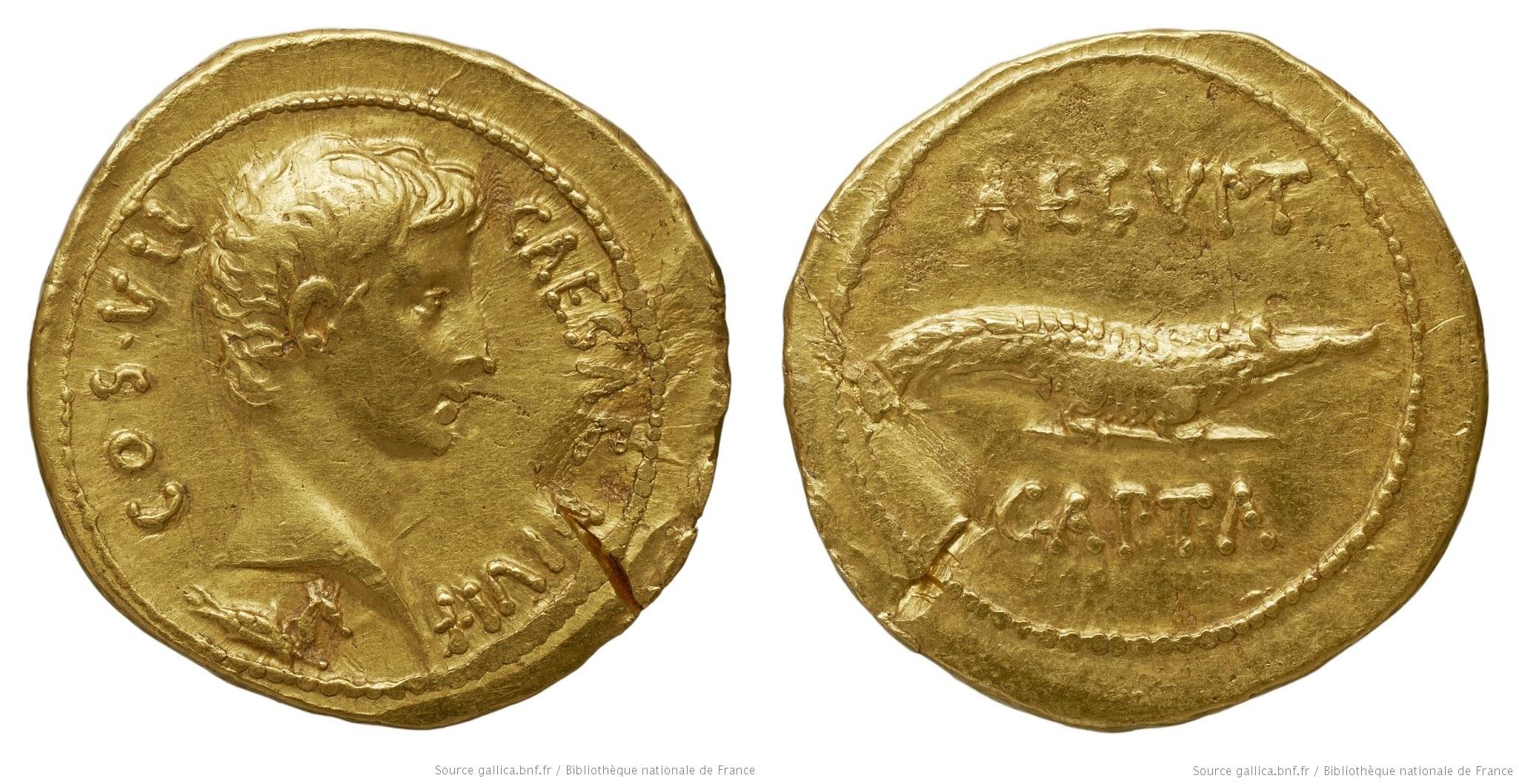 2033AU – Aureus Octave – Caius Julius Cæsar Octavianus