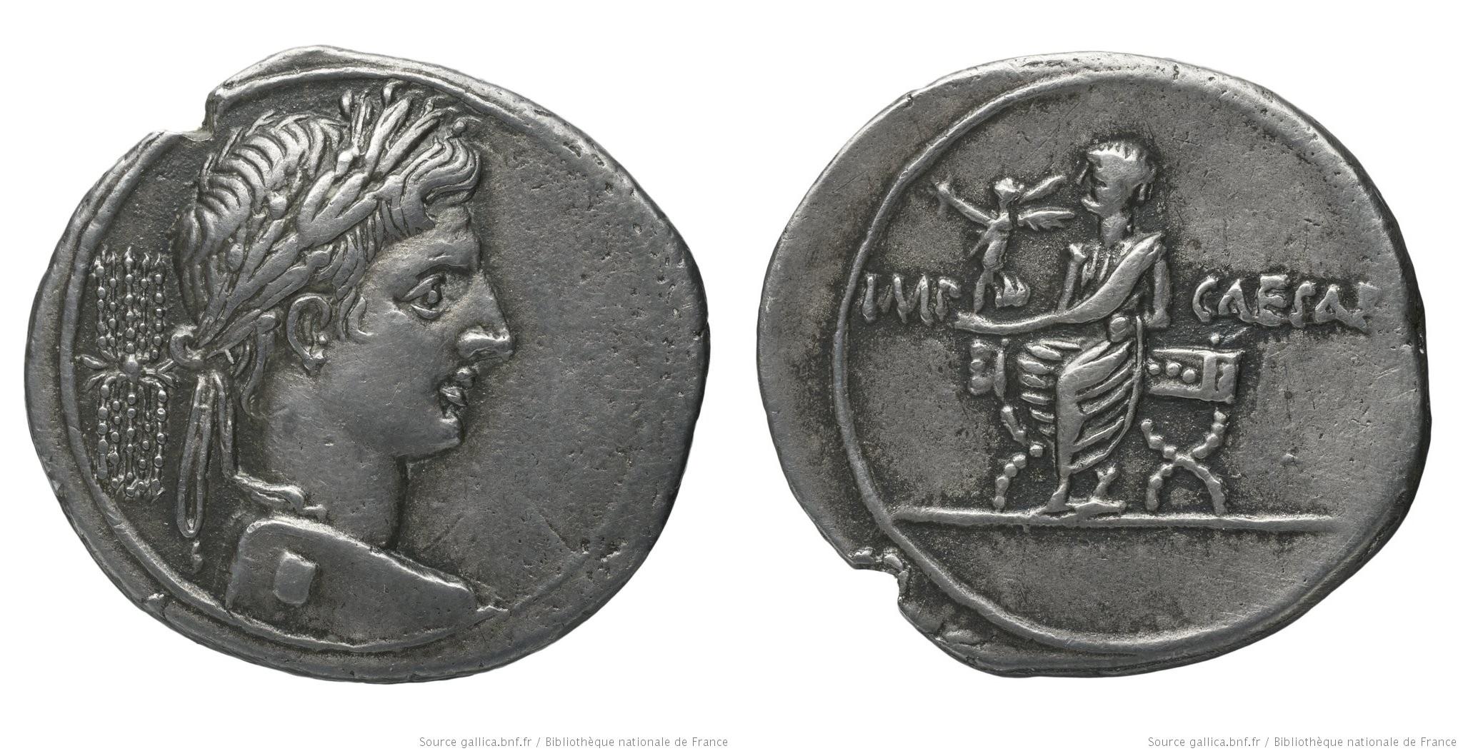 2025AU – Denier Octave – Caius Julius Cæsar Octavianus