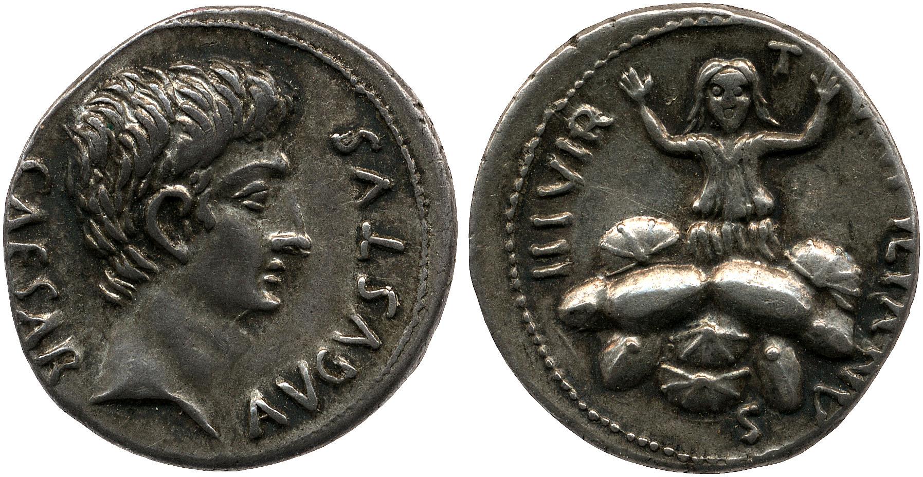 2056AU – Denier Auguste – P.Petronius Turpilianus