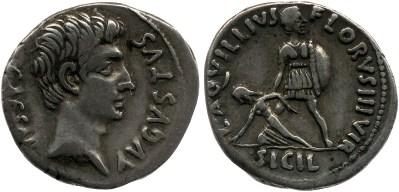 2067AU – Denier Auguste – L.Aquillius Florus