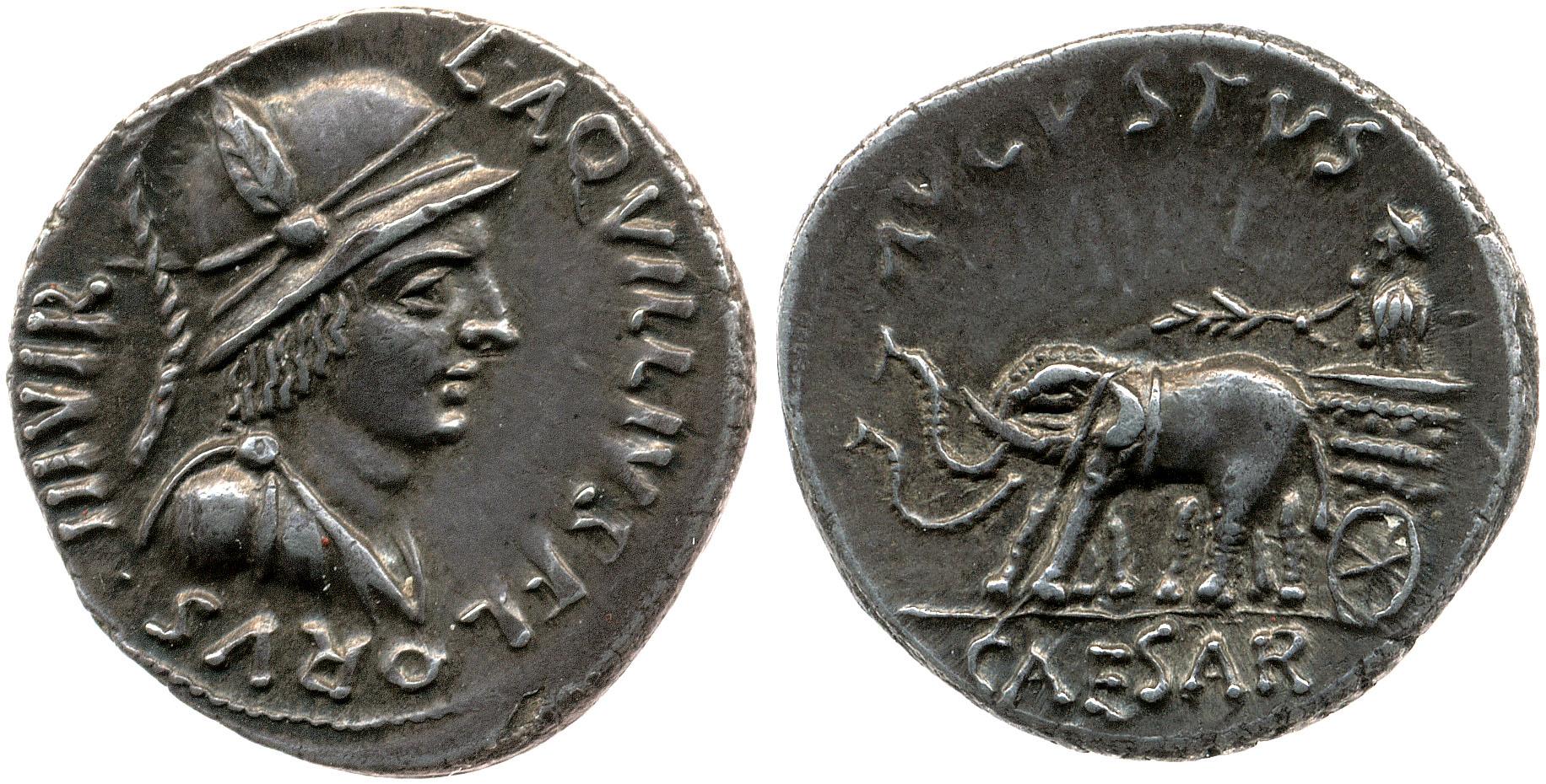 2058AU – Denier Auguste – L.Aquillius Florus