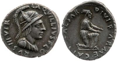 2063AU – Denier Auguste – L.Aquillius Florus