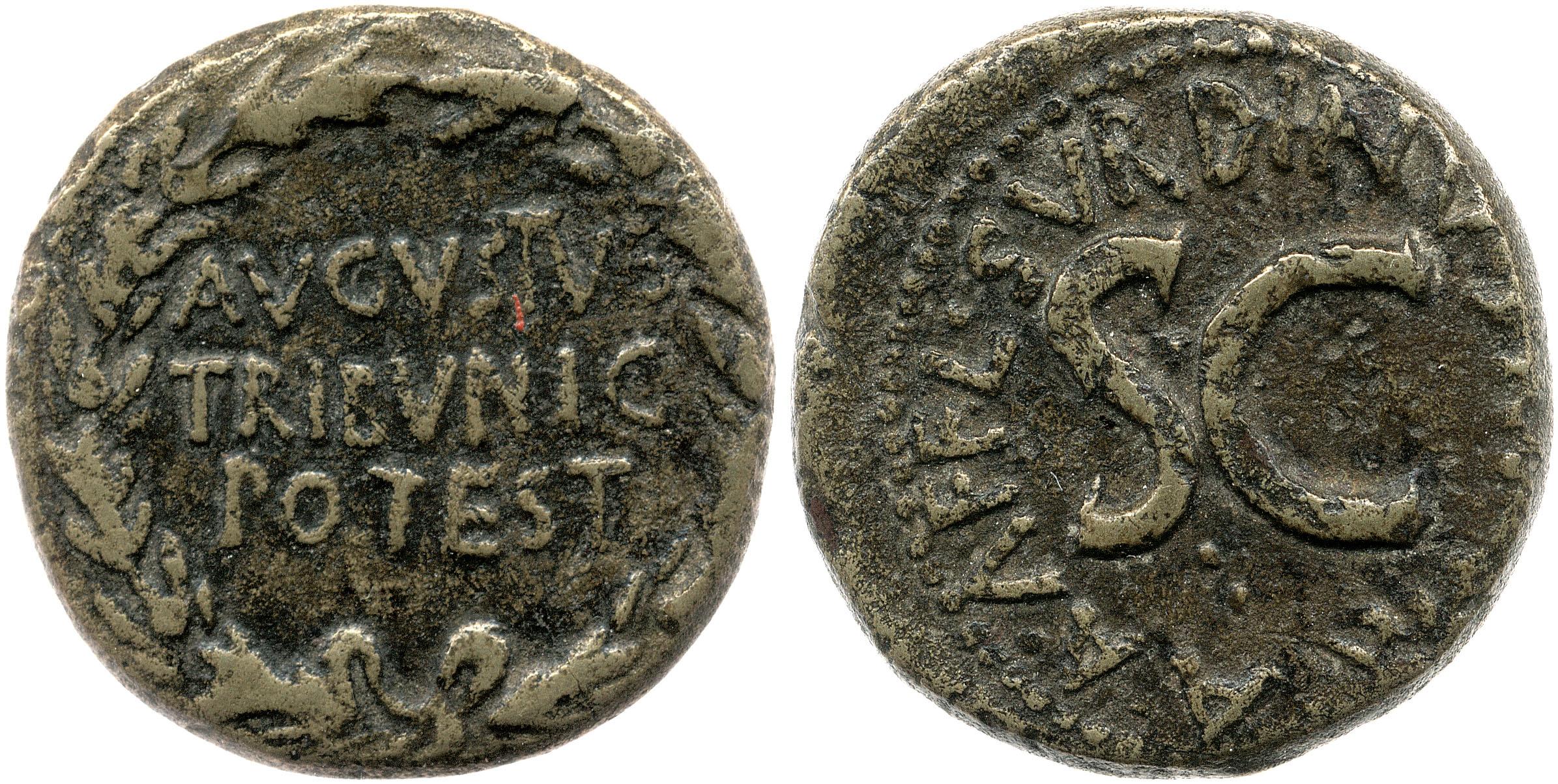 2128AU – Dupondius Auguste – L. Naevius Surdinus