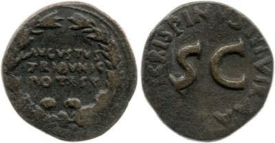 2085AU – Dupondius Auguste – T.Quinctius Crispinus Sulpicianus