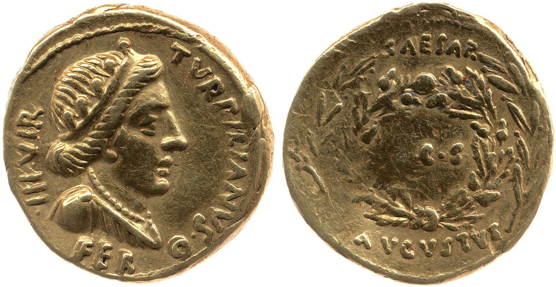 You are currently viewing 2043AU – Aureus Auguste – P.Petronius Turpilianus