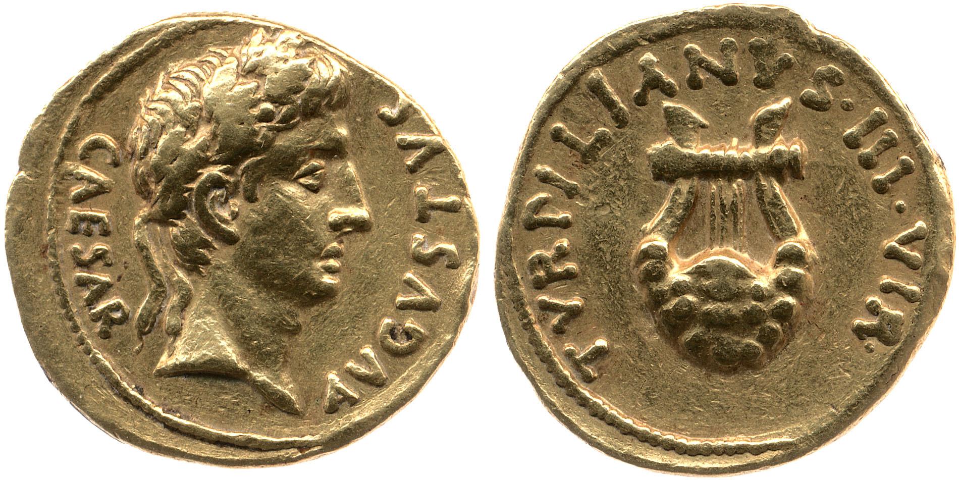 You are currently viewing 2055AU – Aureus Auguste – P.Petronius Turpilianus