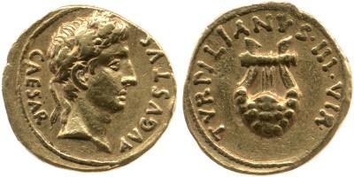 2055AU – Aureus Auguste – P.Petronius Turpilianus