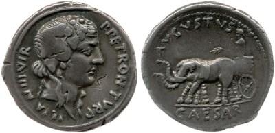 2042AU – Denier Auguste – P.Petronius Turpilianus