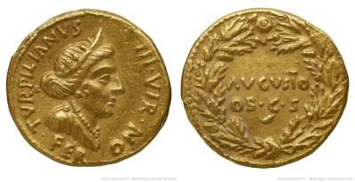 2039AU – Aureus Auguste – P.Petronius Turpilianus