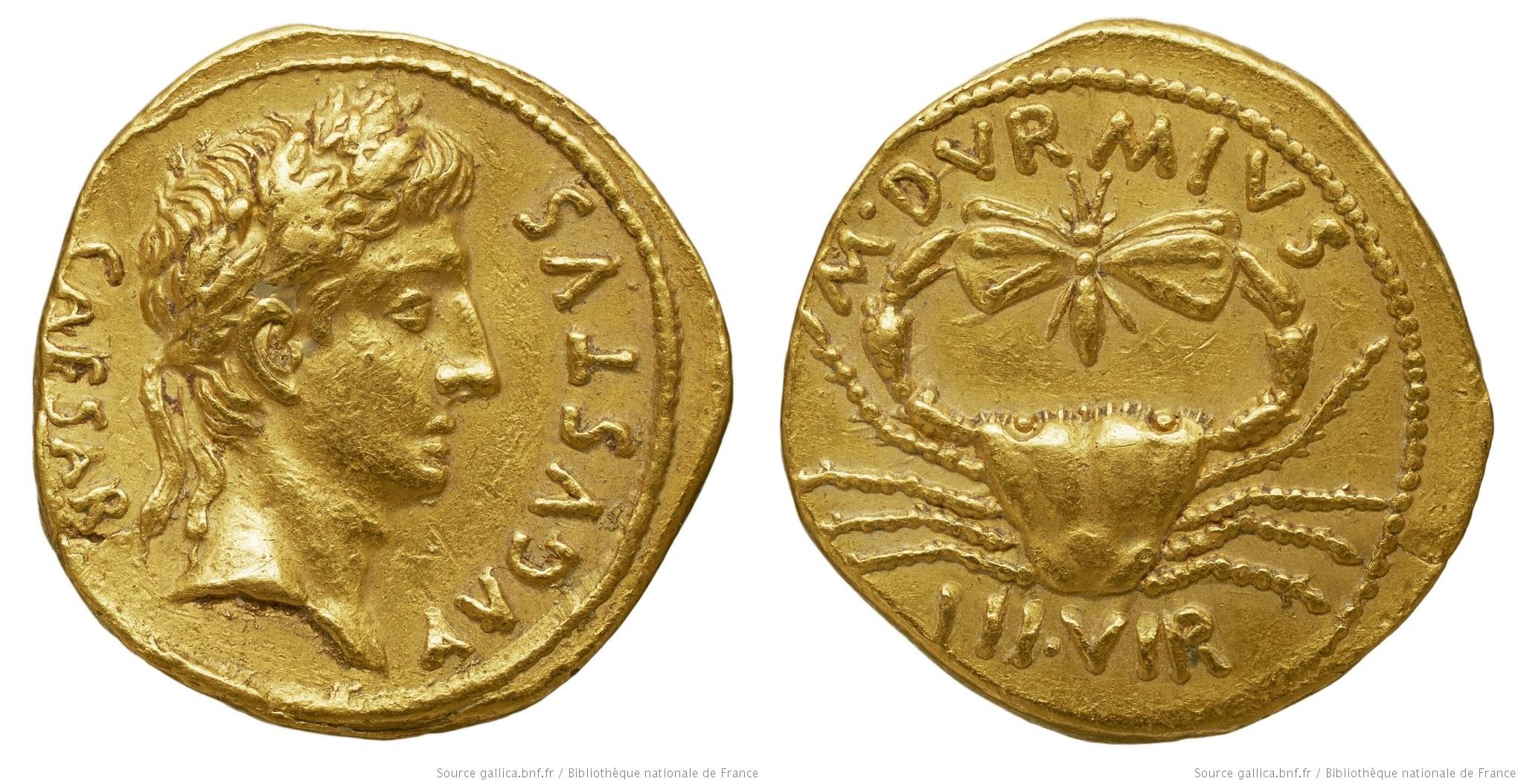 2073AU – Aureus Auguste – M.Durmius