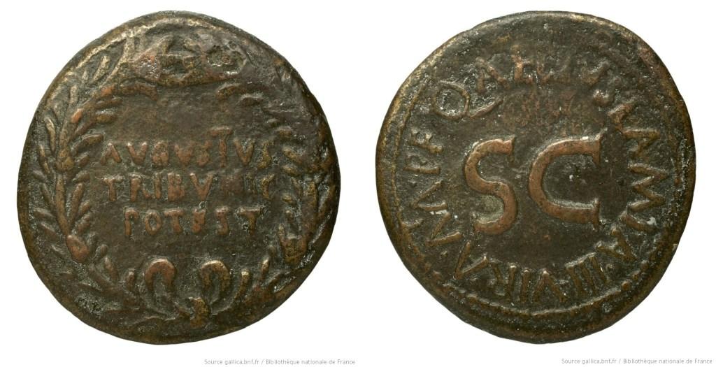 2081AU – Dupondius Auguste – Q. Aelius Lamia
