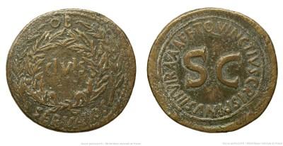 2084AU – Sesterce Auguste – T.Quinctius Crispinus Sulpicianus
