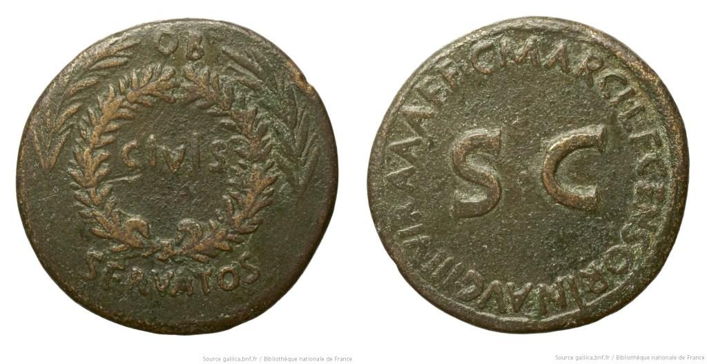 2082AU – Sesterce Auguste – C.Marcius Censorinus