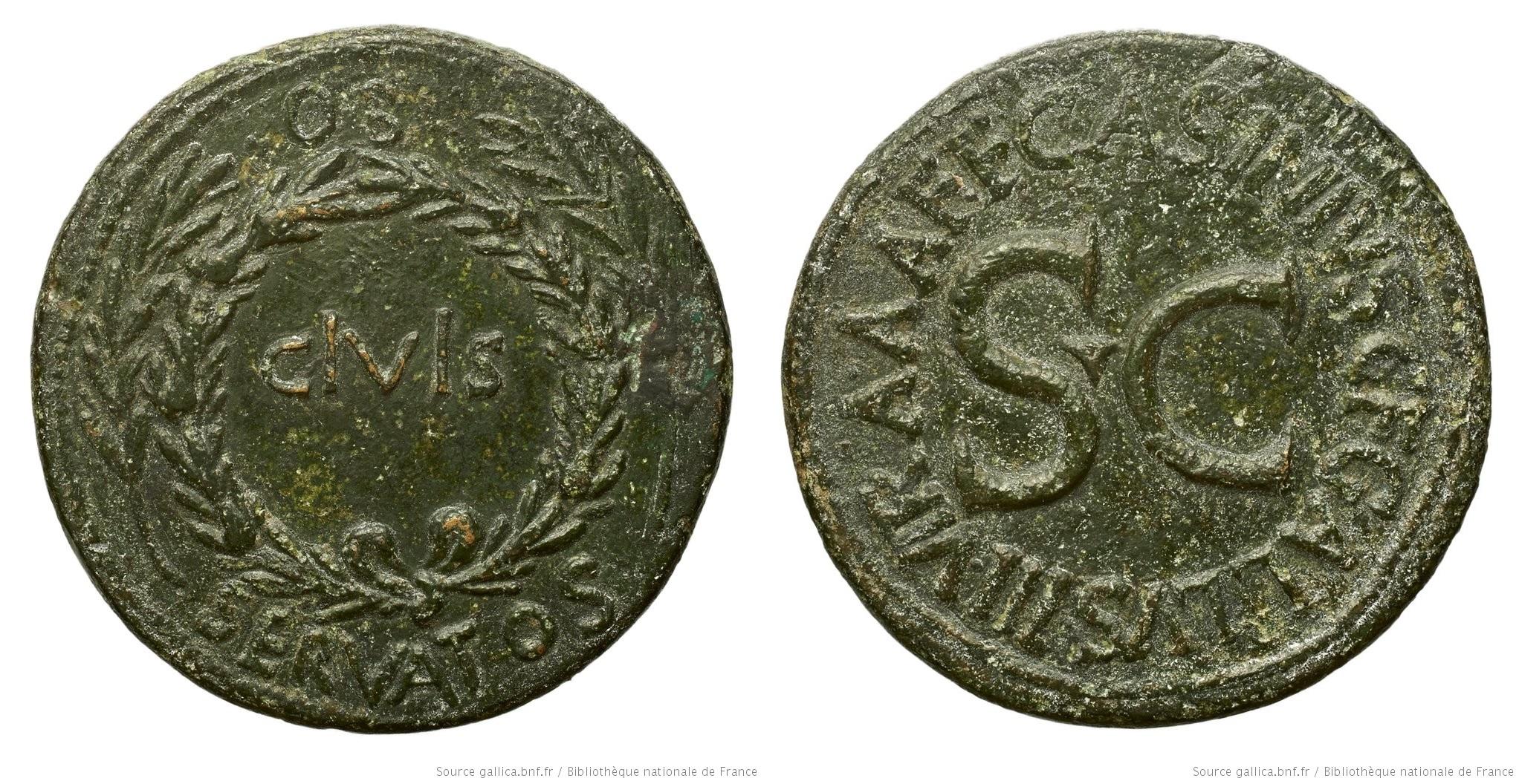 2115AU – Sesterce Auguste – C. Asinius Gallus
