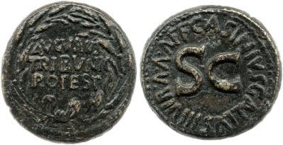 2116AU – Dupondius Auguste – C. Asinius Gallus
