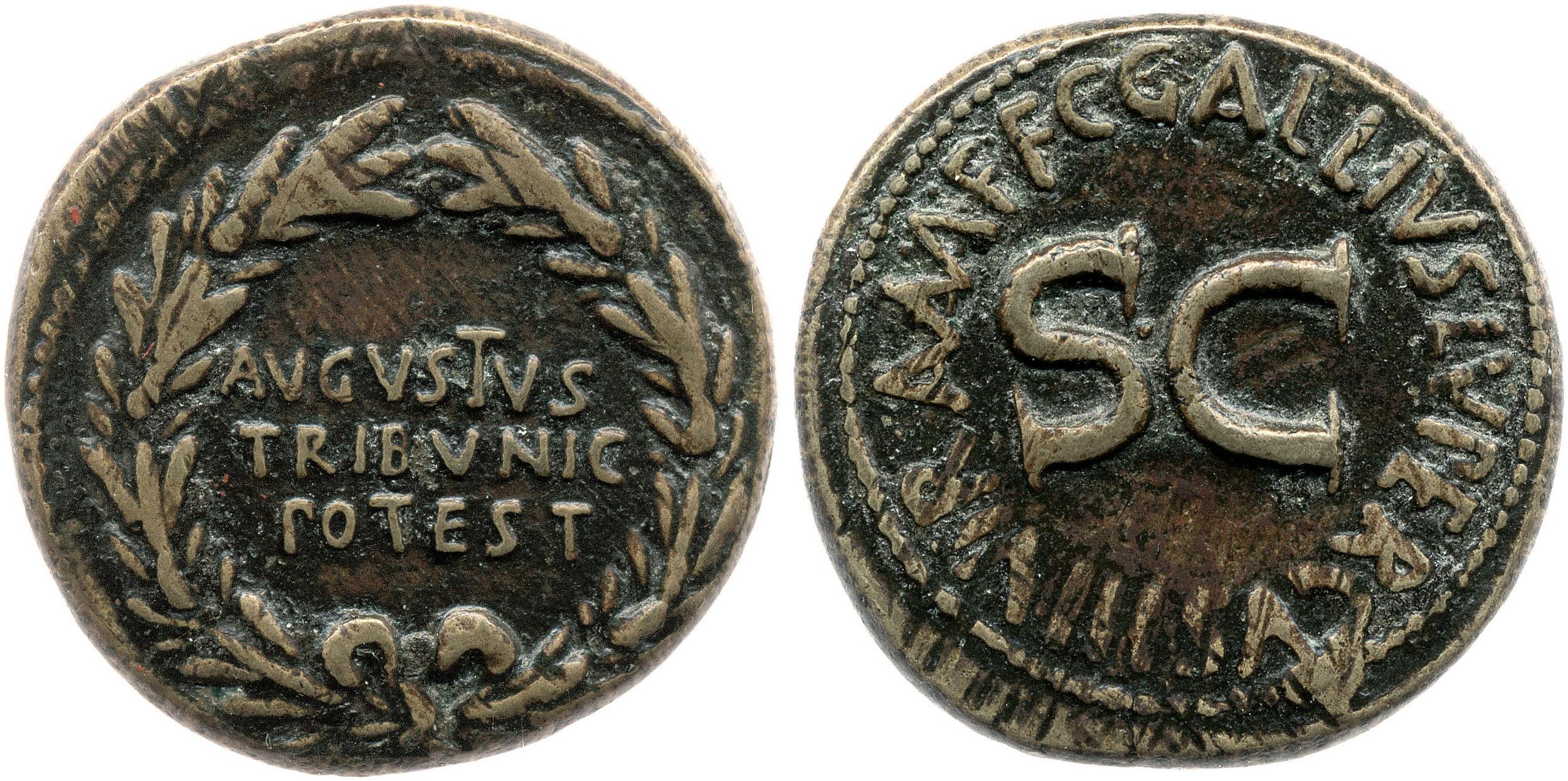 2122AU – Dupondius Auguste – C. Gallius Lupercus