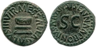 2192AU – Quadrans Auguste – Apronius, Galus, Messalla et Sisenna