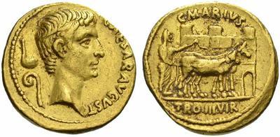 2142AU – Aureus Auguste – C. Marius Tromentina
