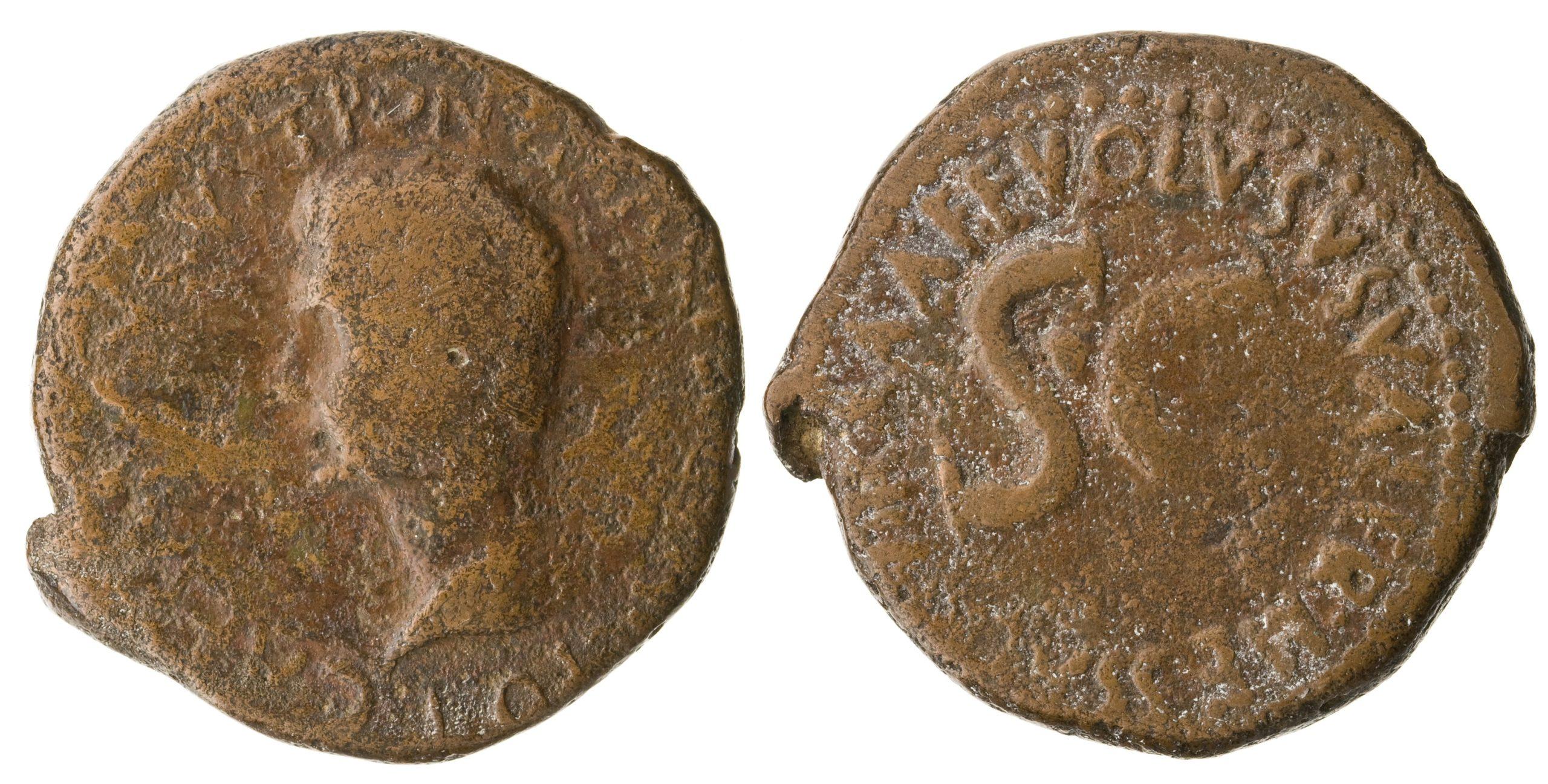 2178AU – As Auguste – Volusus Valerius Messalla