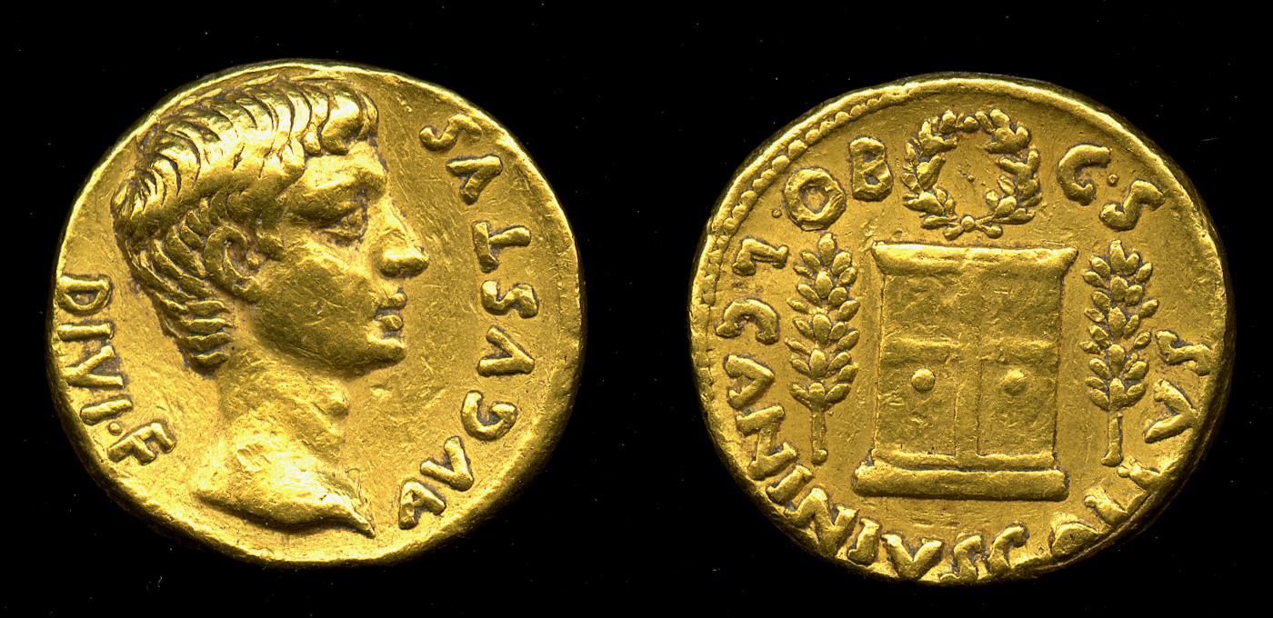 2157AU – Aureus Auguste – C. Caninius Gallus