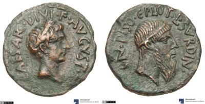 2135AU – As Auguste – Cnaeus Calpurnius Piso