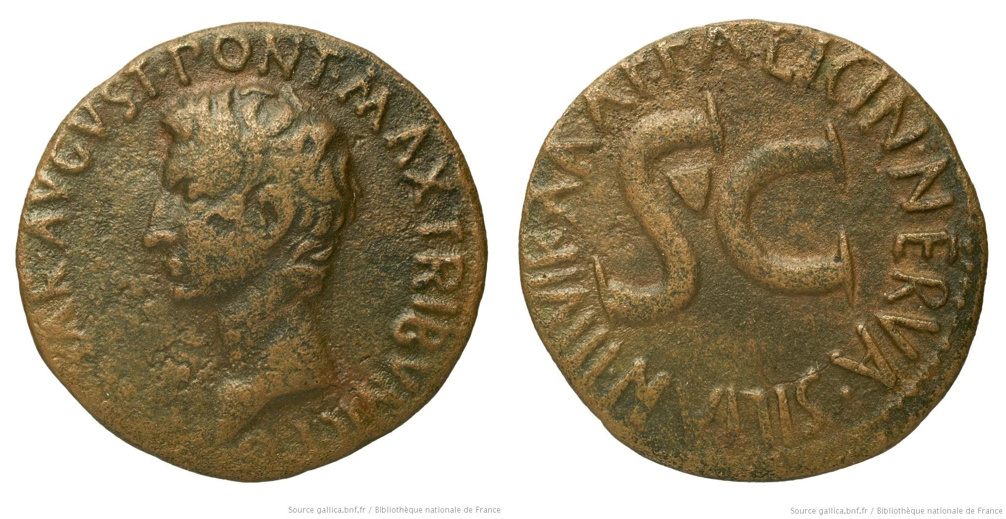 2174AU – As Auguste – A. Licinius Nerva Silianus