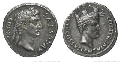 2152AU – Denier Auguste – Cossus Cornelius Lentulus