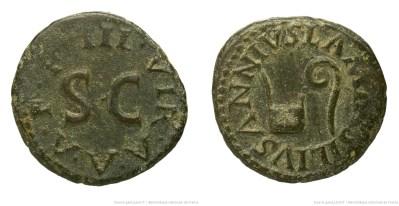 2159AU – Quadrans Auguste – Lamia, Silius et Annius